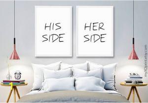 Printable Wall Mural Set Of 2 Print Couple Wall Decor Bedroom Wall Art Print His and