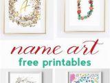 Printable Wall Murals Free Name Art and Alphabet Printables Free Printable Art