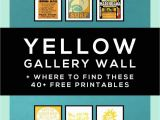 Printable Wall Murals Free Yellow Gallery Wall • A Free Printable Roundup