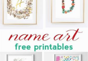 Printable Wall Murals Name Art and Alphabet Printables Free Printable Art