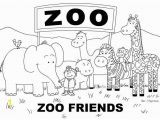 Printable Zoo Animals Coloring Pages Free Zoo Coloring Page with Images