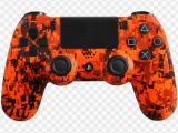 Ps4 Controller Coloring Pages orange Camo Ps4 Controller Png Image with Transparent