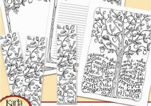 Psalm 51 Coloring Page Psalm 1 Be Like A Tree Bible Journaling Color Your Own