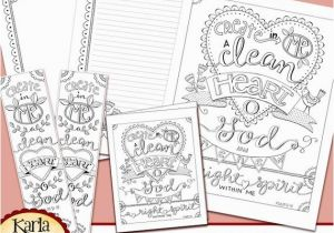 Psalm 51 Coloring Page Psalm 51 Create In Me A Clean Heart Bible Journaling Color