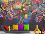 Psychedelic Wall Murals 3d Wallpapers for Walls Shopping Line Shopping
