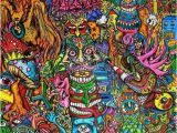 Psychedelic Wall Murals Art Trippy Creepy Hippie S Weed