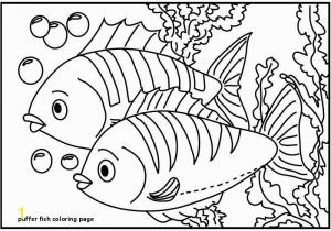 Puffer Fish Coloring Page Marvelous Coloring Pages Fish Line Picolour