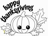 Pumpkin Fall Coloring Pages Happy Thanksgiving Kawaii Pumpkin with Fall Leaves