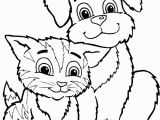 Puppies and Kitties Coloring Pages Epic Dog and Cat Coloring Pages 35 for Your New Dogs Cats