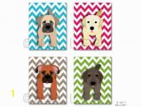 Puppy Dog Wall Murals Chevron Dog Prints Pick Any 4 Dogs Baby Nursery Art Kids Wall Art Children Dog Nursery Decor 4 Prints by Wallfry