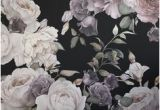 Purple and Pink Dark Floral Wall Mural 37 Best Wallpaper Floral Images