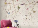 Purple Flower Wall Murals by Jaima Brown Sample Free Shipping On All Sample orders butterfly