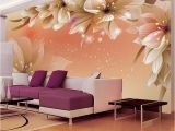 Purple Flower Wall Murals Custom 3d Wallpaper Modern Flower Wall Mural Wall Paper Living