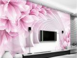 Purple Flower Wall Murals Custom Wall Mural Wallpaper Modern Minimalist 3d Stereo Space Flower