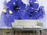 Purple Flower Wall Murals АквареРьные стены в интерьере Interior