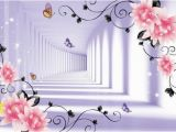 Purple Flower Wall Murals Pin by Murwall On Art Wall Murals Pinterest