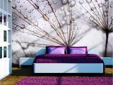 "Purple Wall Murals Uk Wallpaper Dandelion and Morning Dew"" 3d Wallpaper Murals"
