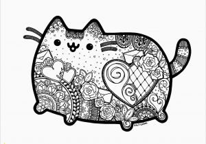 Pusheen Cat Coloring Pages Printable Pin On Animals Coloring Book