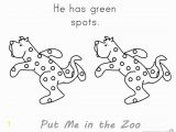 Put Me In the Zoo Coloring Page Put Me In the Zoo Coloring Pages Green Spots Free