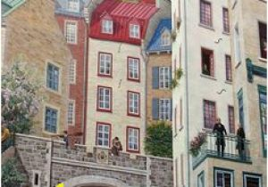 Quebec City Wall Mural Postcards Of the Past Quebec City Canada