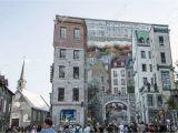 Quebec City Wall Mural Quebec Canada 13 09 2017 Fresco Fresque Quebecois Painting Art