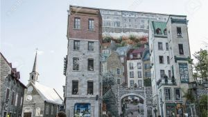 Quebec City Wall Mural Quebec Canada 13 09 2017 Fresco Fresque Quebecois Painting Art