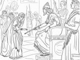Queen Esther Coloring Page Esther and King Xerxes Super Coloring