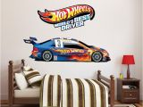 Race Track Wall Mural Hot Wheels Boys Room Decals Hot Wheels Wallpaper Kids Room Wall