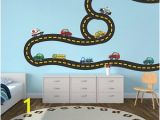 Race Track Wall Mural Paw Patrol Kids Wall Decal Decor Paw Dog Birthday Party theme