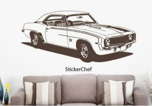 Racing Car Wall Mural 1969 Chevy Camaro Car Wall Decal Muscle Car Decals Muscle