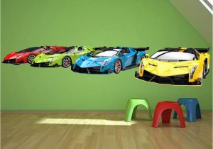 Racing Car Wall Mural Details About Sports Cars Transport Wall Decal Sticker Ws