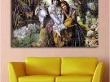 Radha Krishna Wall Murals Hindu God Radha Krishna Love 2 Hd Wall Art Canvas Poster and Print