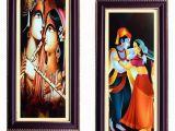 Radha Krishna Wall Murals Janki Religious God Radha Krishna Love Wall Painting Wood Art Prints