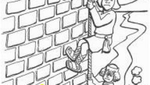 Rahab and Spies Coloring Page Horn Craft Walls Jericho Rahab Coloring Sheet