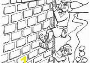 Rahab and Spies Coloring Page Horn Craft Walls Jericho Rahab Coloring Sheet