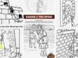 Rahab and Spies Coloring Page Rahab Craft Sundayschoolist