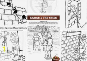 Rahab and Spies Coloring Page Rahab Craft Sundayschoolist