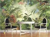 Rain forest Wall Mural Beibehang Room Decoration Wall Mural 3d Wallpaper European Style Retro Painted Rainforest Animal Tiger Parrot Wallpaper to Wallpaper
