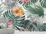 Rain forest Wall Mural Flowers Foliage Tropical Rainforest Wallpaper Wall Murals