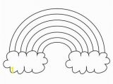 Rainbow and Clouds Coloring Page Extra Rainbow Template Full Page Printout