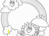 Rainbow and Clouds Coloring Page Free Printable Rainbow Coloring Pages for Kids