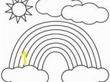 Rainbow and Clouds Coloring Page Free Printable Rainbow Coloring Pages