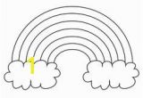 Rainbow and Clouds Coloring Page Free Printable Rainbow Name Tags From Printabletreats