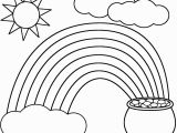 Rainbow and Clouds Coloring Page Rainbow Coloring Page Kids Dream Of Rainbows with Pots Of Gold at