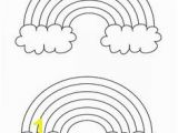 Rainbow and Clouds Coloring Page Rainbow Sun Colouring Page Preschool Color Sheets
