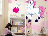 Rainbow Unicorn Wall Mural Cute Decal Could Paint It
