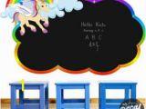 Rainbow Wall Mural Decal Chalkboard Wall Decal Rainbow Pony Wall Mural Classroom