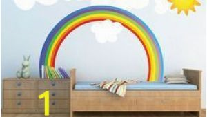 Rainbow Wall Mural Decal Rainbow Wall Decal Kids Bedroom Rainbows Rainbow Wall Art