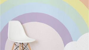 Rainbow Wall Mural Uk Kids Pastel Rainbow Wallpaper Mural