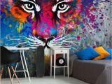 Rainbow Wall Mural Uk Tiger Art